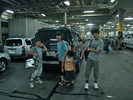 ▲苫小牧→大洗のフェリーの車両甲板